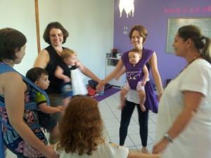 Os bebês adoram a aula!!!