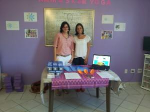 """As duas Nathálias juntas: A criadora do projeto está a esquerda ¨Nathália Donato¨e a nutricionista """" Nathália Guedes"""" está à direita da foto."""