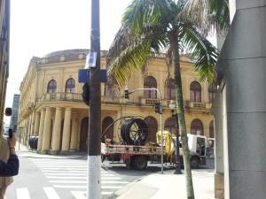 Estação de Trem desativada - hoje, dentro é um restaurante!